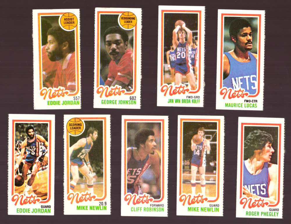 1980-81 Topps (Separated) Basketball Team Set - New Jersey Nets