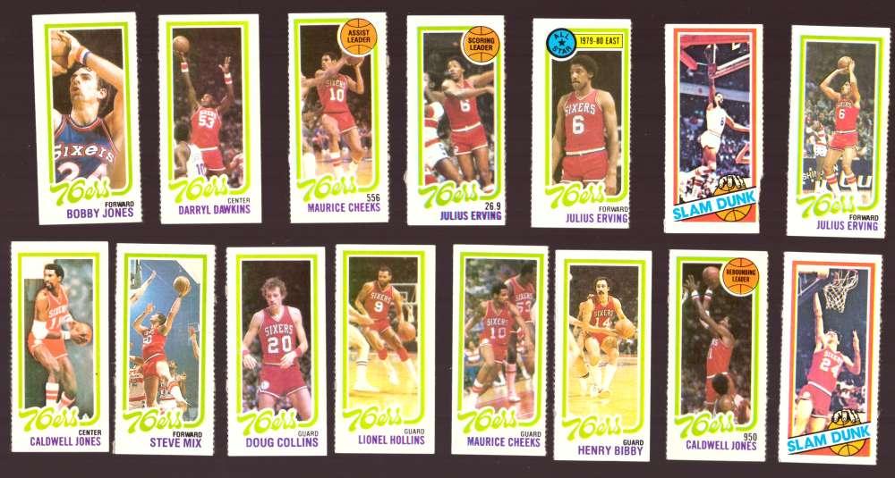 1980-81 Topps (Separated) Basketball Team Set - Philadelphia 76ers