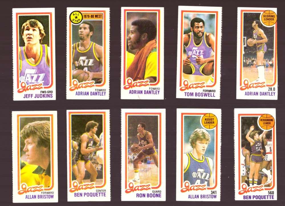 1980-81 Topps (Separated) Basketball Team Set - Utah Jazz