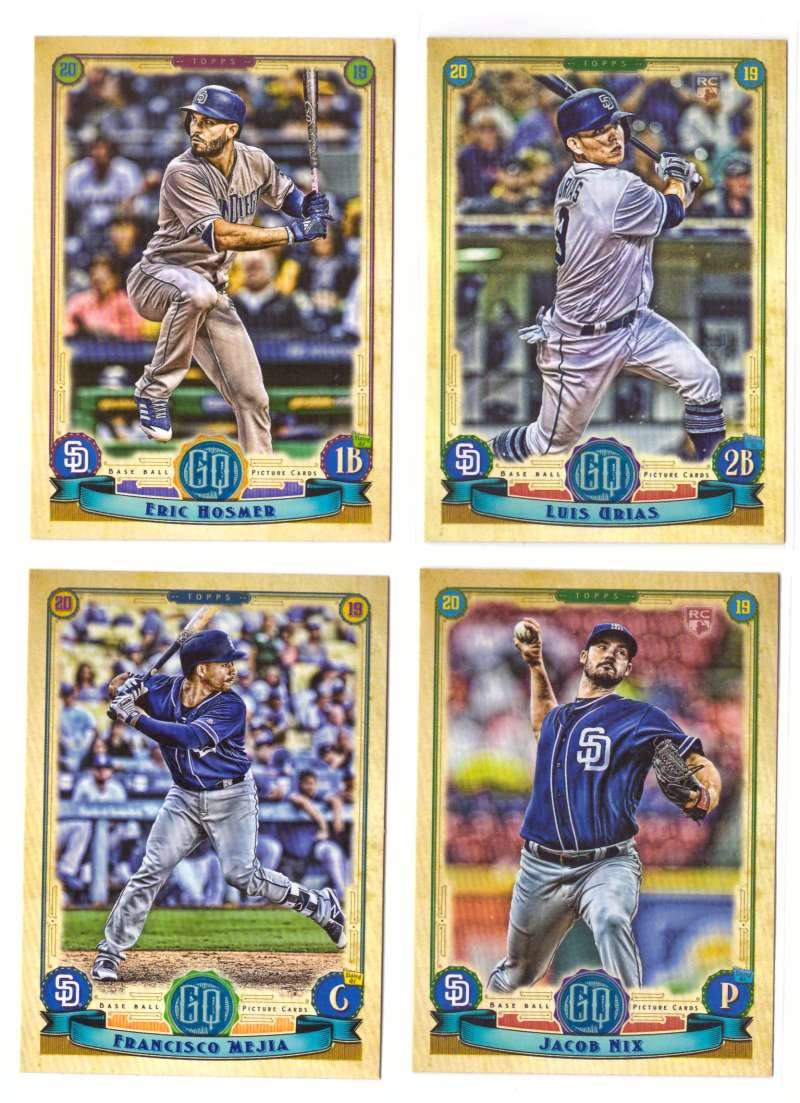 2019 Topps Gypsy Queen - SAN DIEGO PADRES Team Set