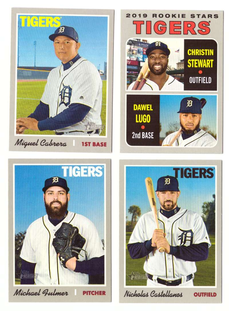 2019 Topps Heritage (1-500) - DETROIT TIGERS Team Set