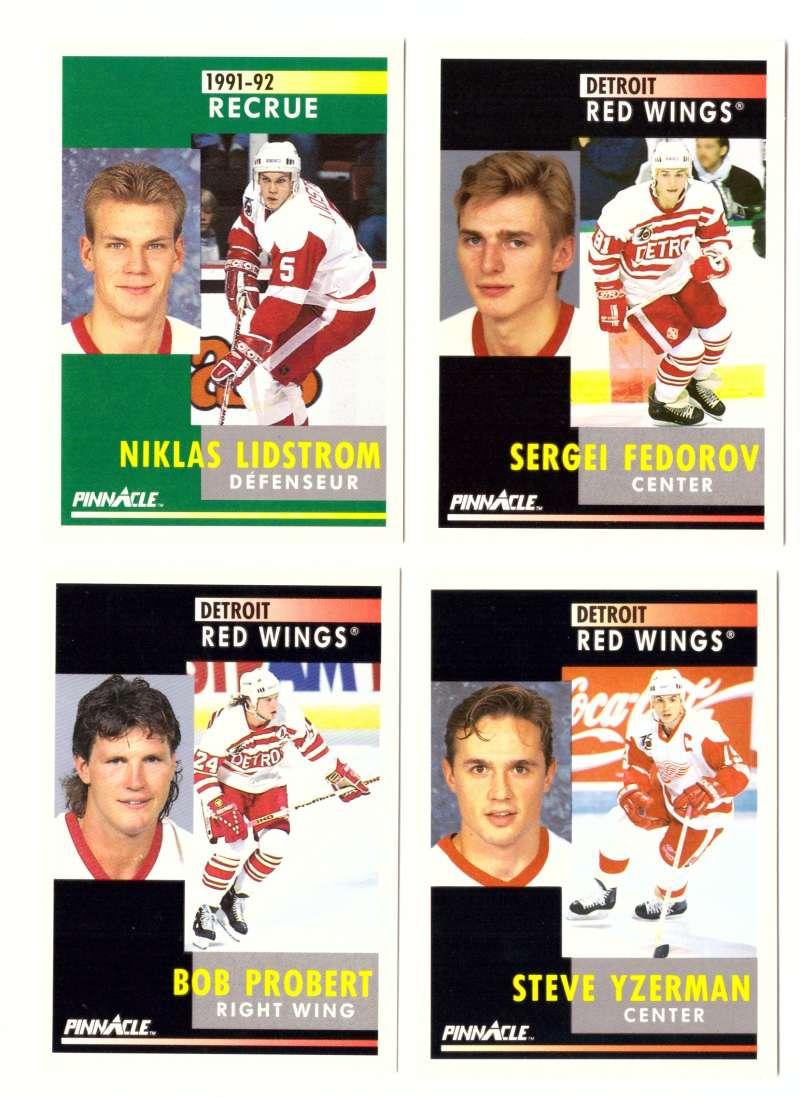 1991-92 Pinnacle Hockey Team Set - Detroit Red Wings