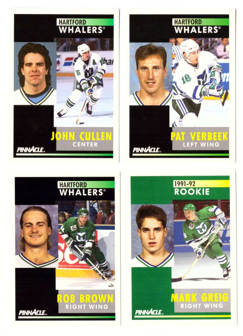 1991-92 Pinnacle Hockey Team Set - Hartford Whalers