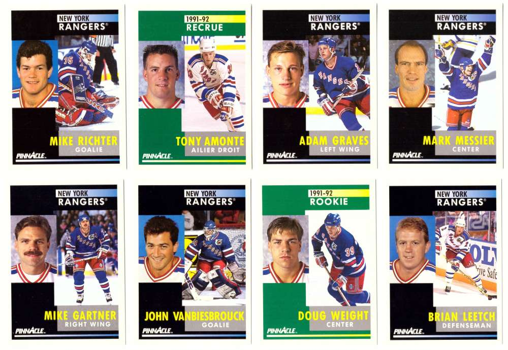 1991-92 Pinnacle Hockey Team Set - New York Rangers