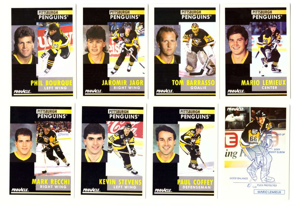1991-92 Pinnacle Hockey Team Set - Pittsburgh Penguins