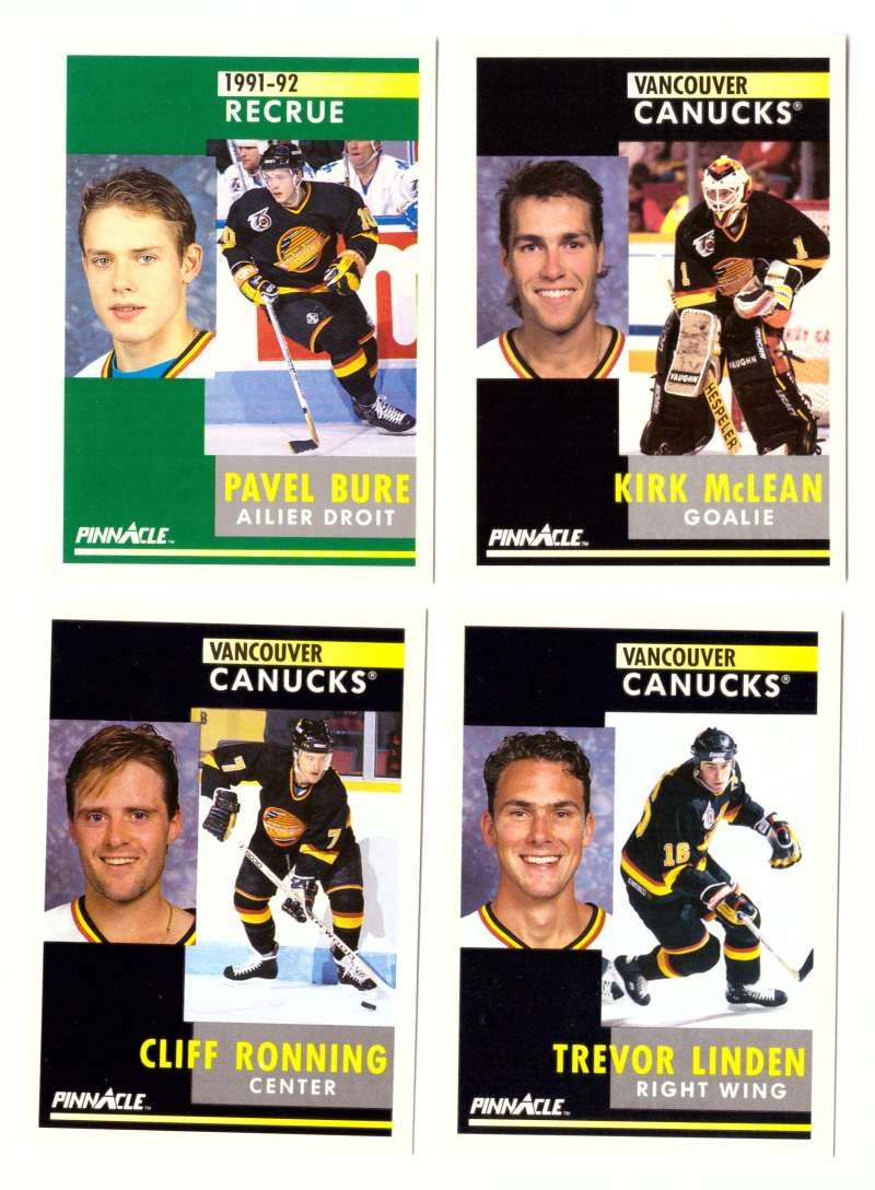 1991-92 Pinnacle Hockey Team Set - Vancouver Canucks