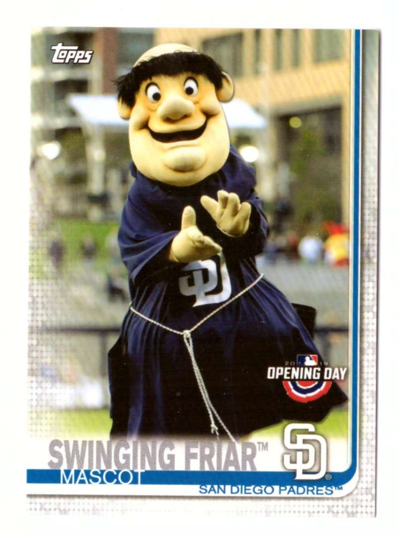 2019 Topps Opening Day Mascots - SAN DIEGO PADRES
