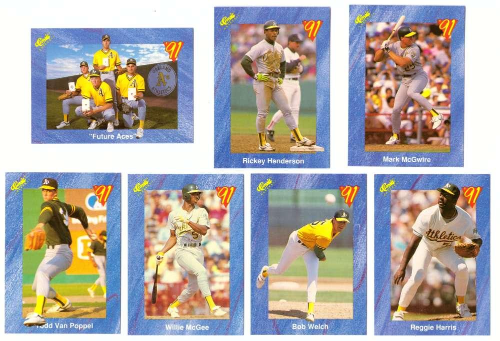 1991 Classic I OAKLAND As Team set