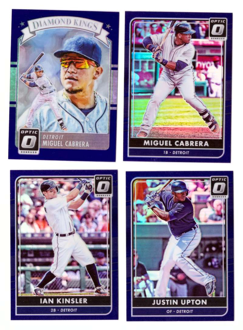 2016 Donruss Optic Purple - DETROIT TIGERS