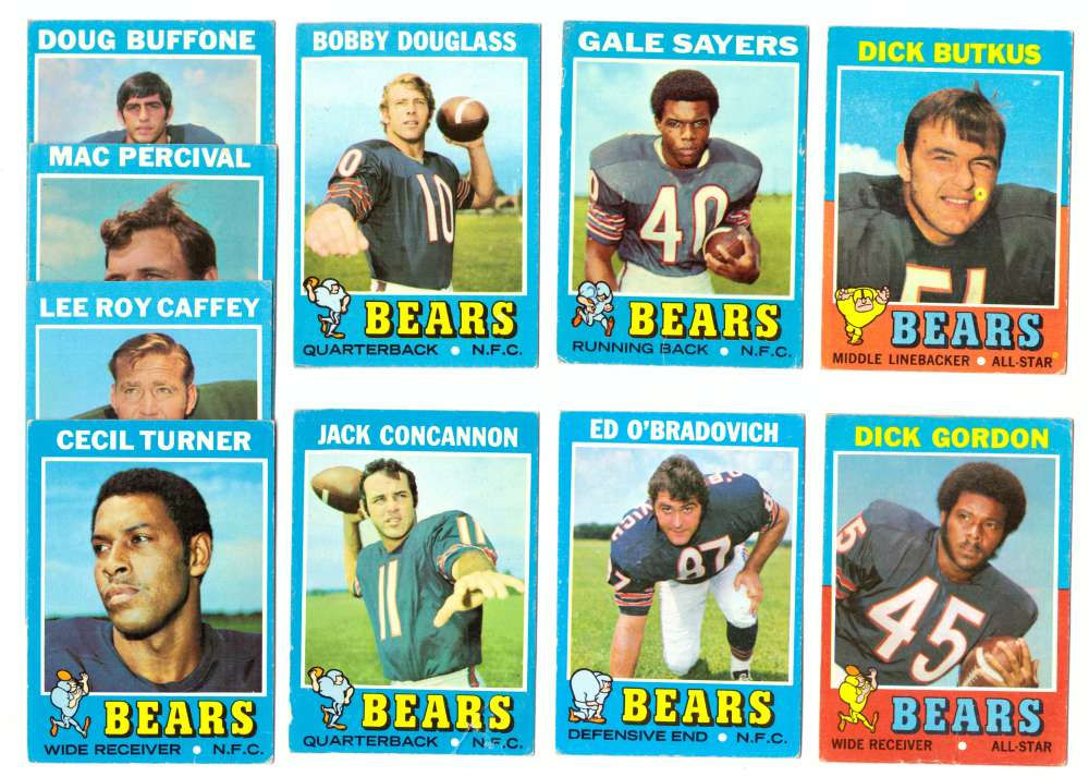 1971 Topps Football Team Set (VG Condition) - CHICAGO BEARS