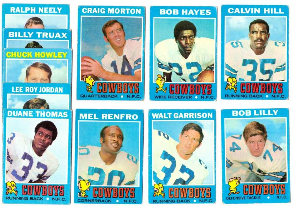 1971 Topps Football Team Set (VG Condition) - DALLAS COWBOYS