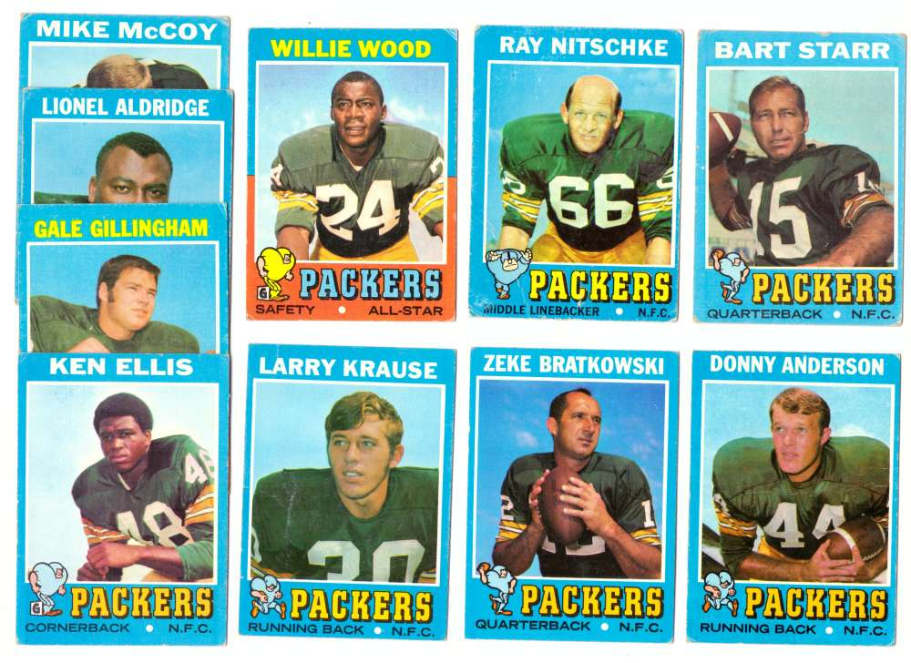 1971 Topps Football Team Set (VG Condition) - GREEN BAY PACKERS
