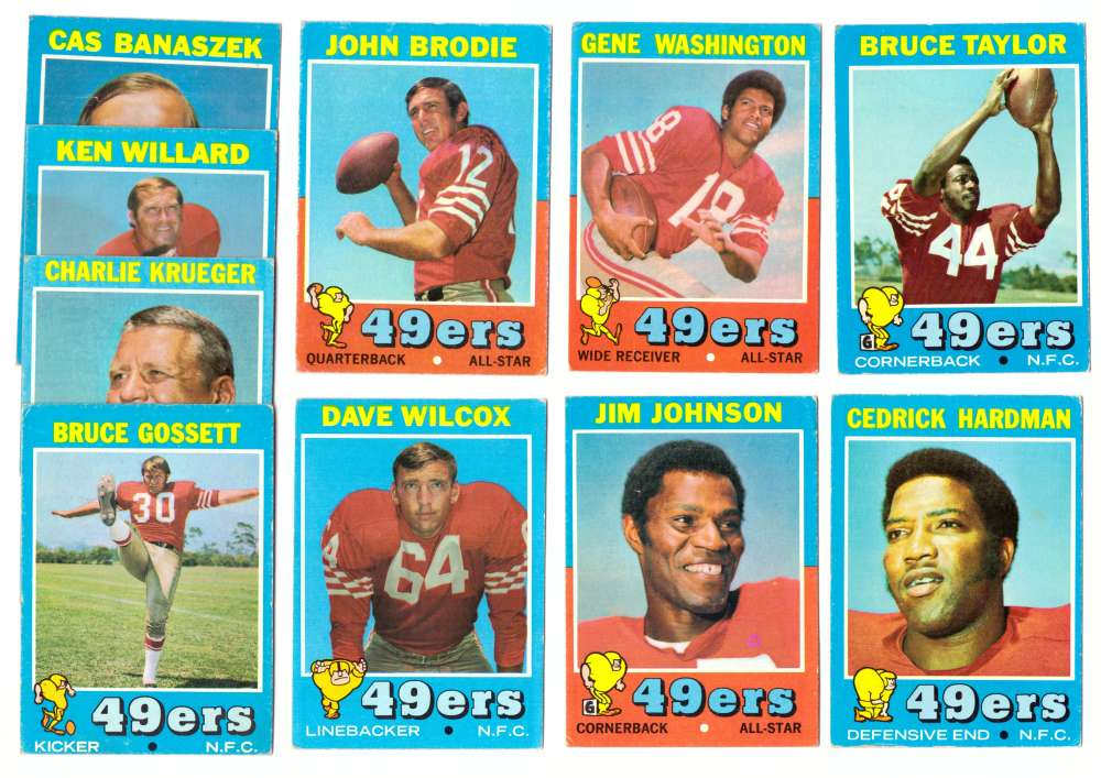 1971 Topps Football Team Set (VG Condition) - SAN FRANCISCO 49ERS