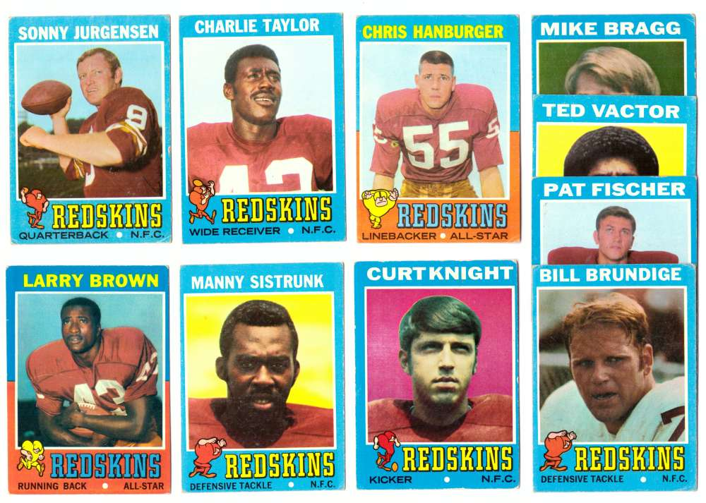 1971 Topps Football Team Set (VG Condition) - WASHINGTON REDSKINS