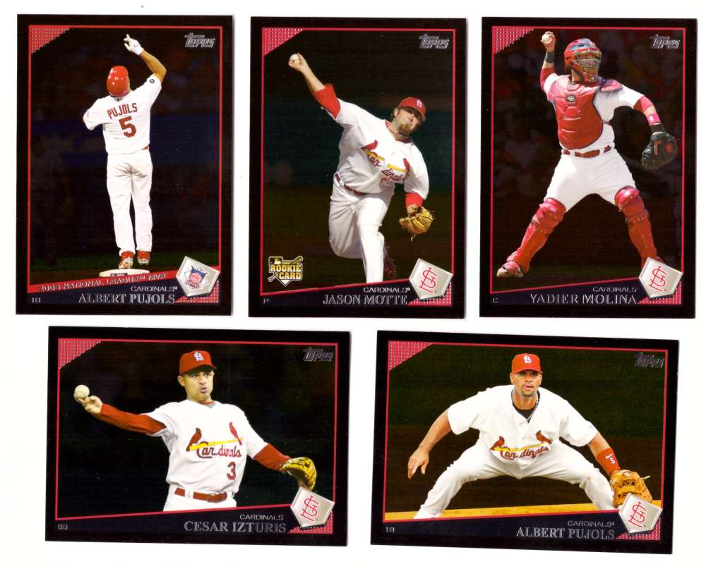 2009 Topps Wal Mart Black Border Series 1 - ST LOUIS CARDINALS Team Set