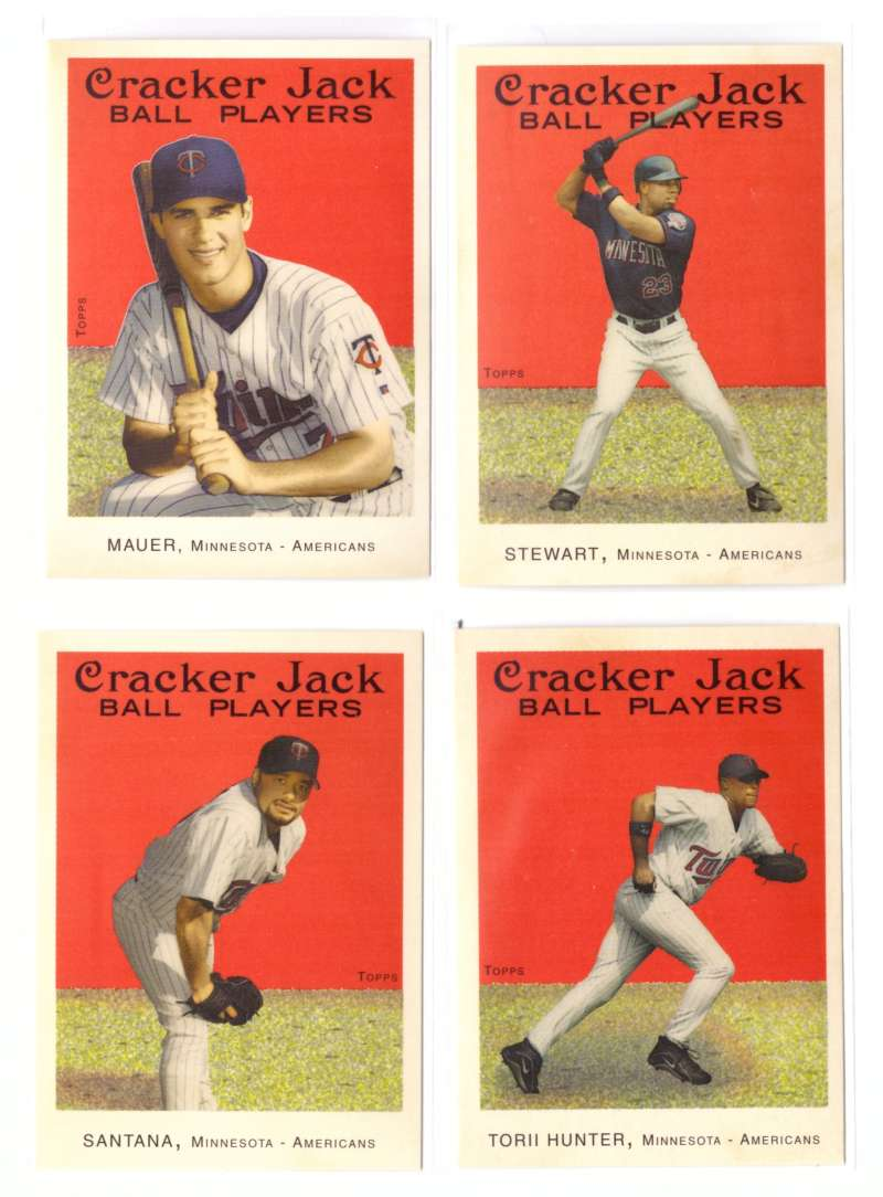 2004 Topps Cracker Jacks w/ SP - MINNESOTA TWINS Team Set