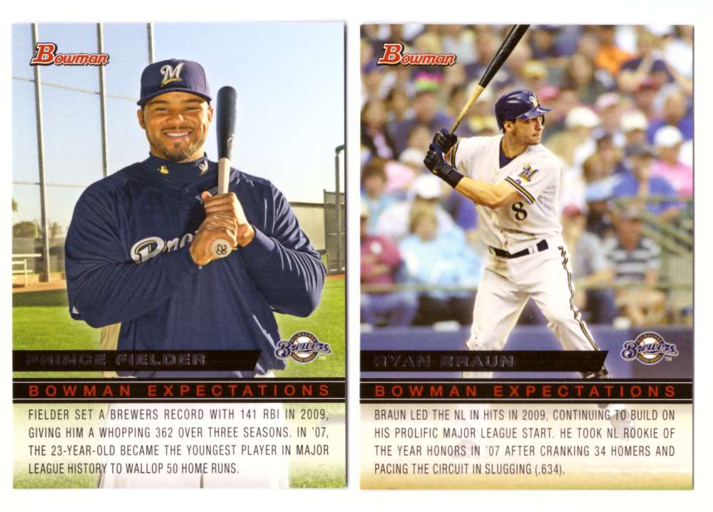 2010 Bowman Expectations - MILWAUKEE BREWERS Team Set