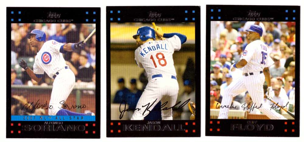 2007 Topps Update - CHICAGO CUBS Team Set