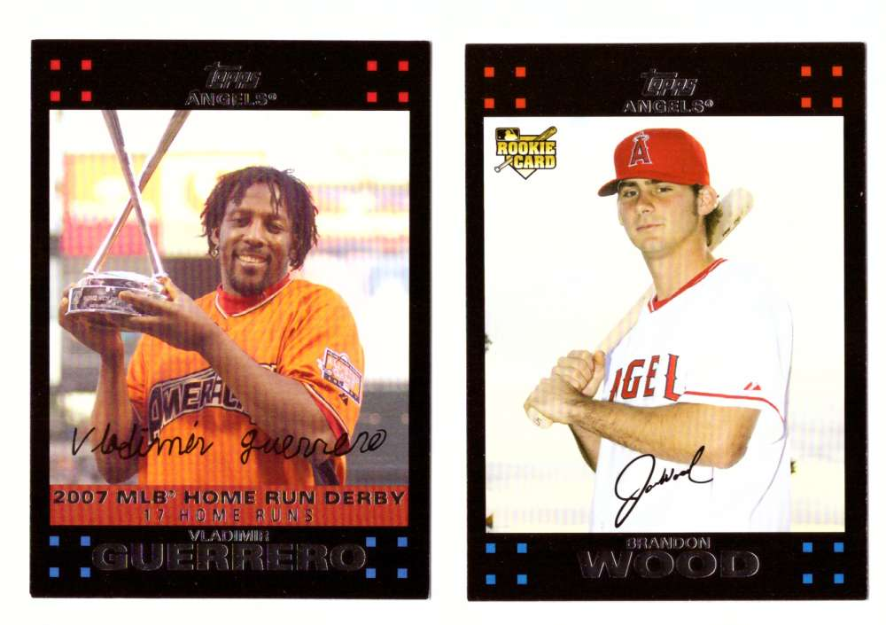 2007 Topps Update - LOS ANGELES ANGELS Team Set