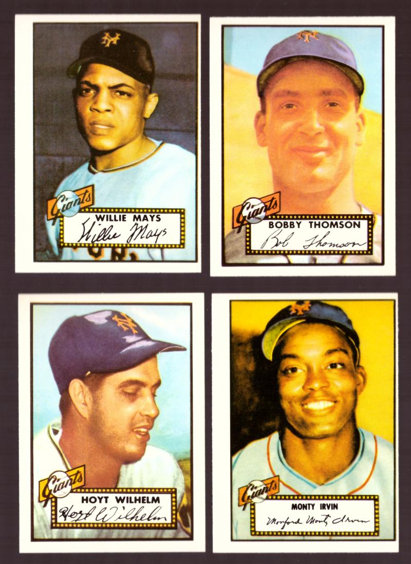 1952 TOPPS Reprints Some Off Centered see pic - NEW YORK GIANTS Team Set
