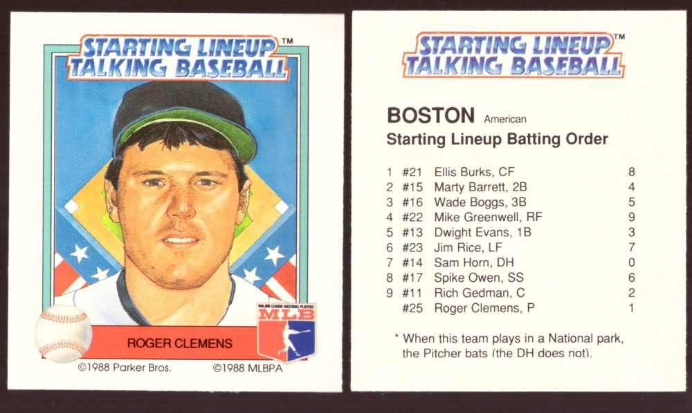 1988 Starting Lineup Talking Baseball BOSTON RED SOX Team Set