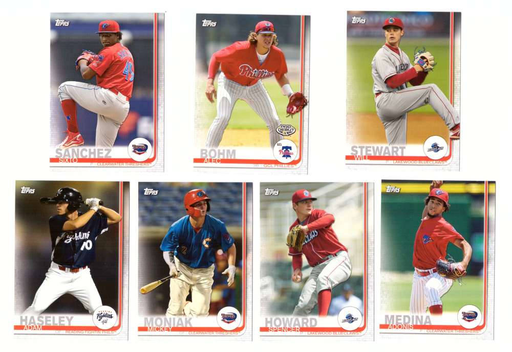 2019 Topps Pro Debut - Philadelphia Phillies - 7 Card Team Set