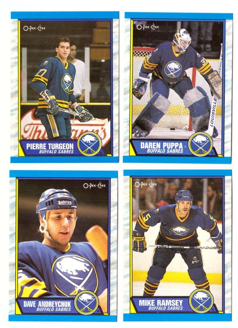 1989-90 O-Pee-Chee Hockey Team Set - Buffalo Sabres