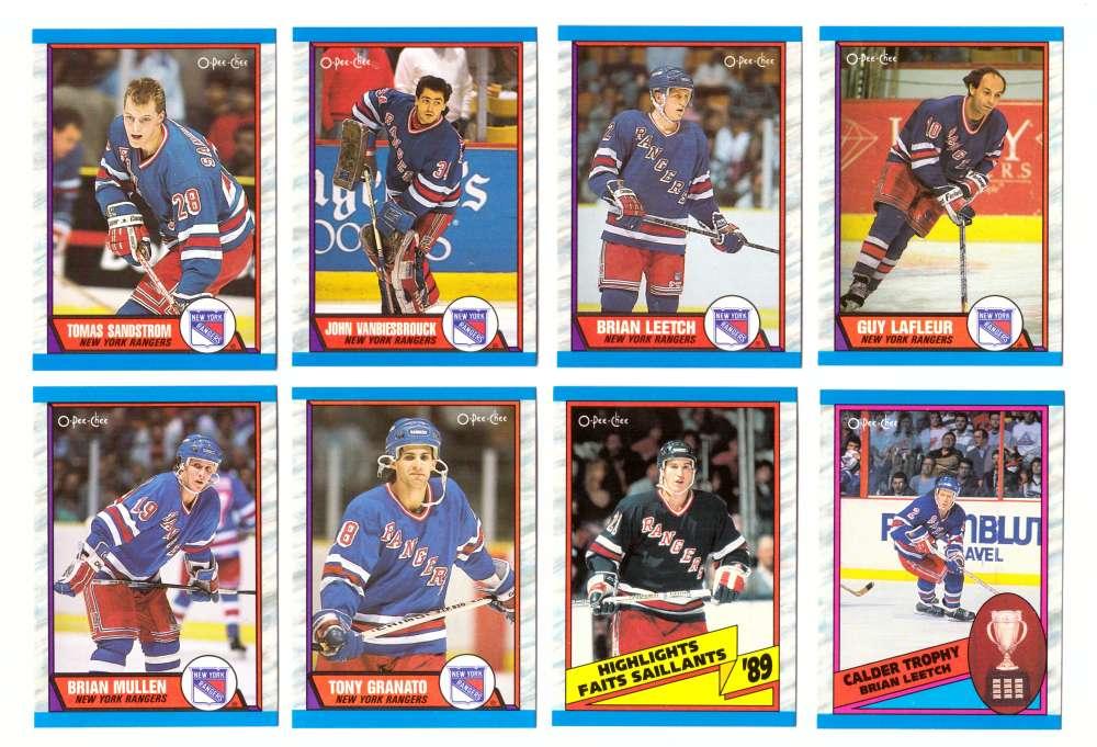 1989-90 O-Pee-Chee Hockey Team Set - New York Rangers