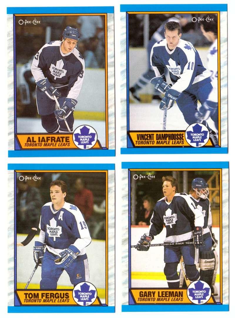 1989-90 O-Pee-Chee Hockey Team Set - Toronto Maple Leafs