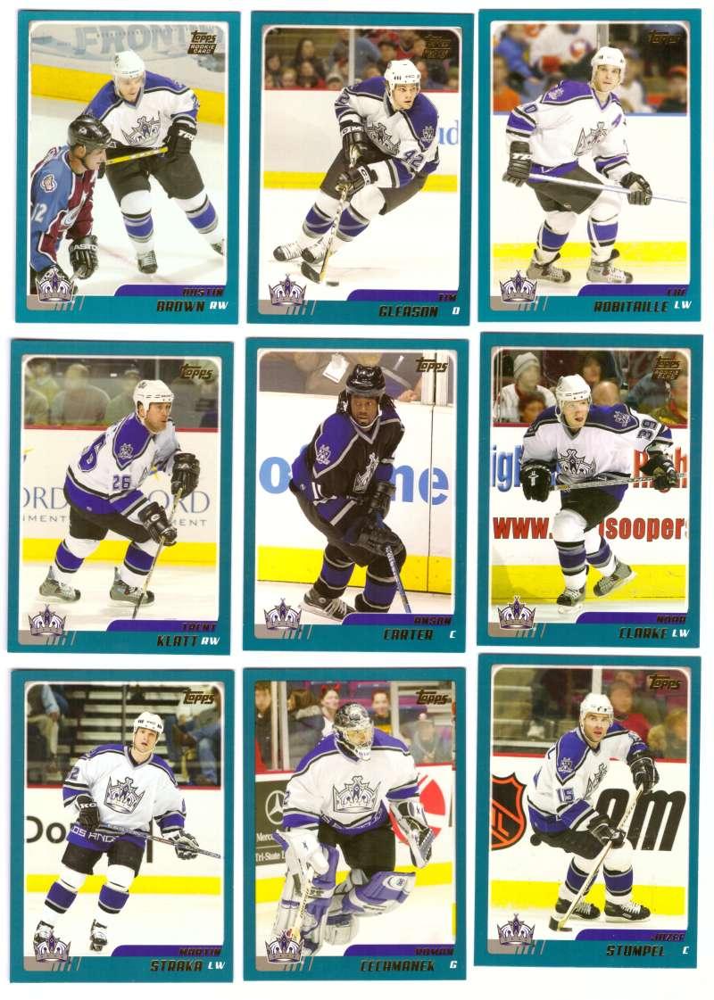 2003-04 Topps Traded Hockey Team Set - Los Angeles Kings