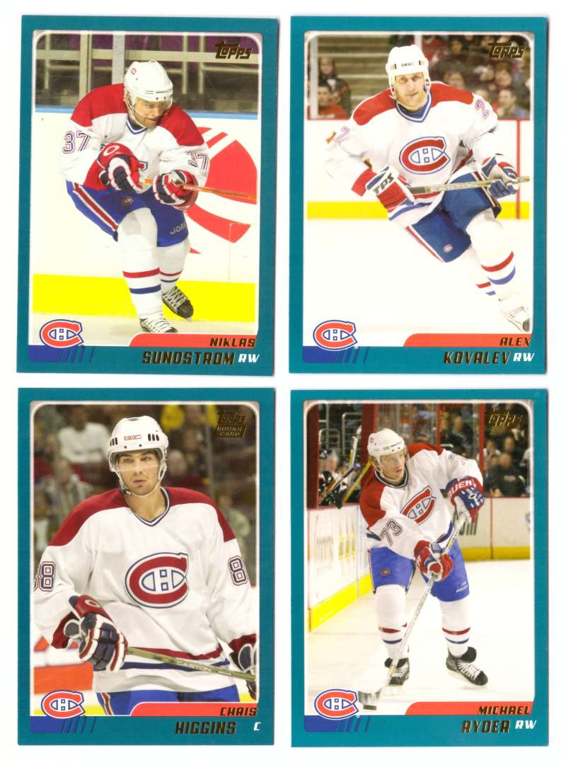 2003-04 Topps Traded Hockey Team Set - Montreal Canadiens