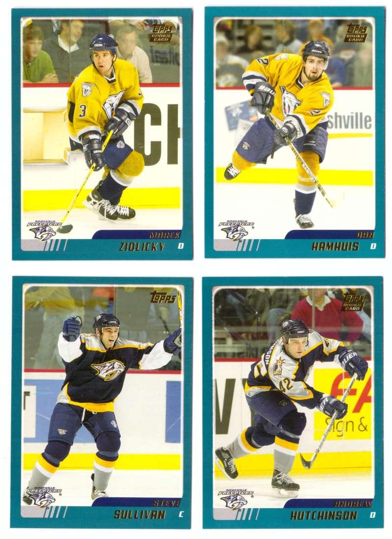 2003-04 Topps Traded Hockey Team Set - Nashville Predators
