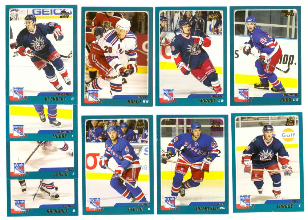 2003-04 Topps Traded Hockey Team Set - New York Rangers