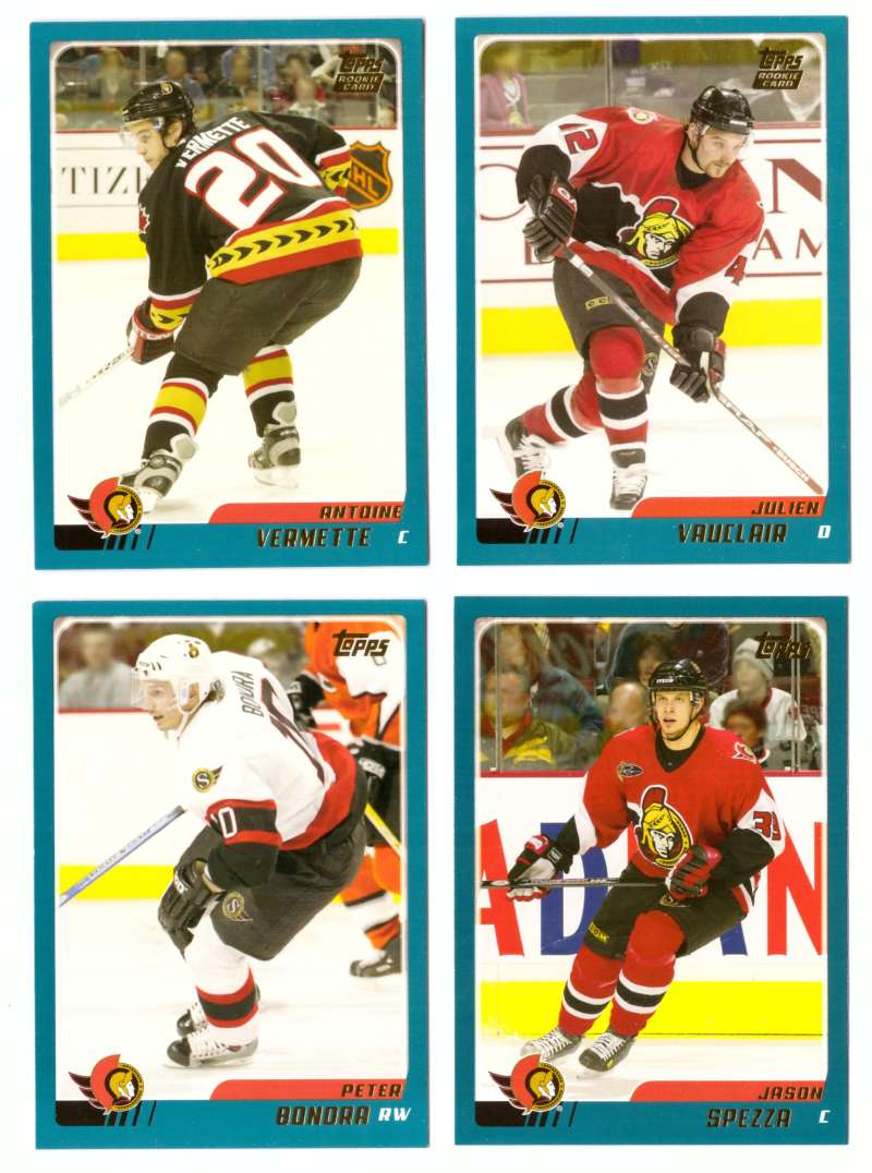 2003-04 Topps Traded Hockey Team Set - Ottawa Senators