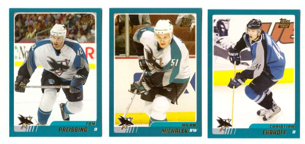 2003-04 Topps Traded Hockey Team Set - San Jose Sharks