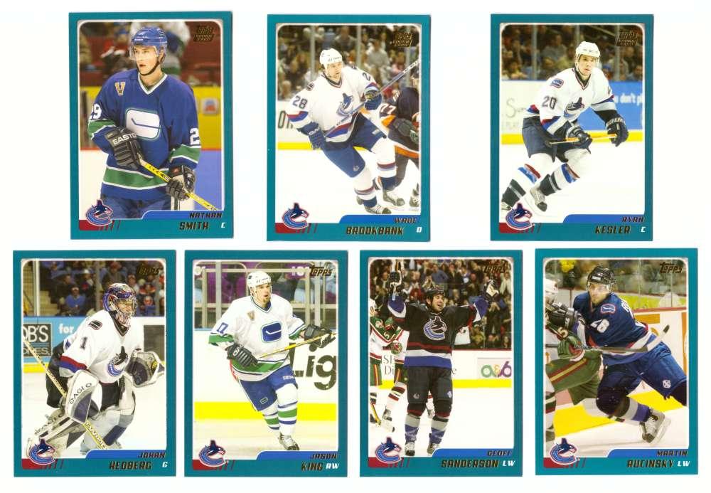 2003-04 Topps Traded Hockey Team Set - Vancouver Canucks