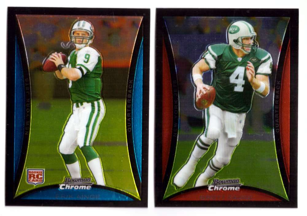 2008 Bowman Chrome Football Team Set - NEW YORK JETS