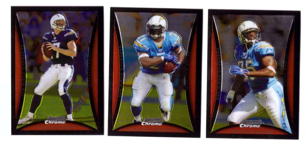 2008 Bowman Chrome Football Team Set - SAN DIEGO CHARGERS