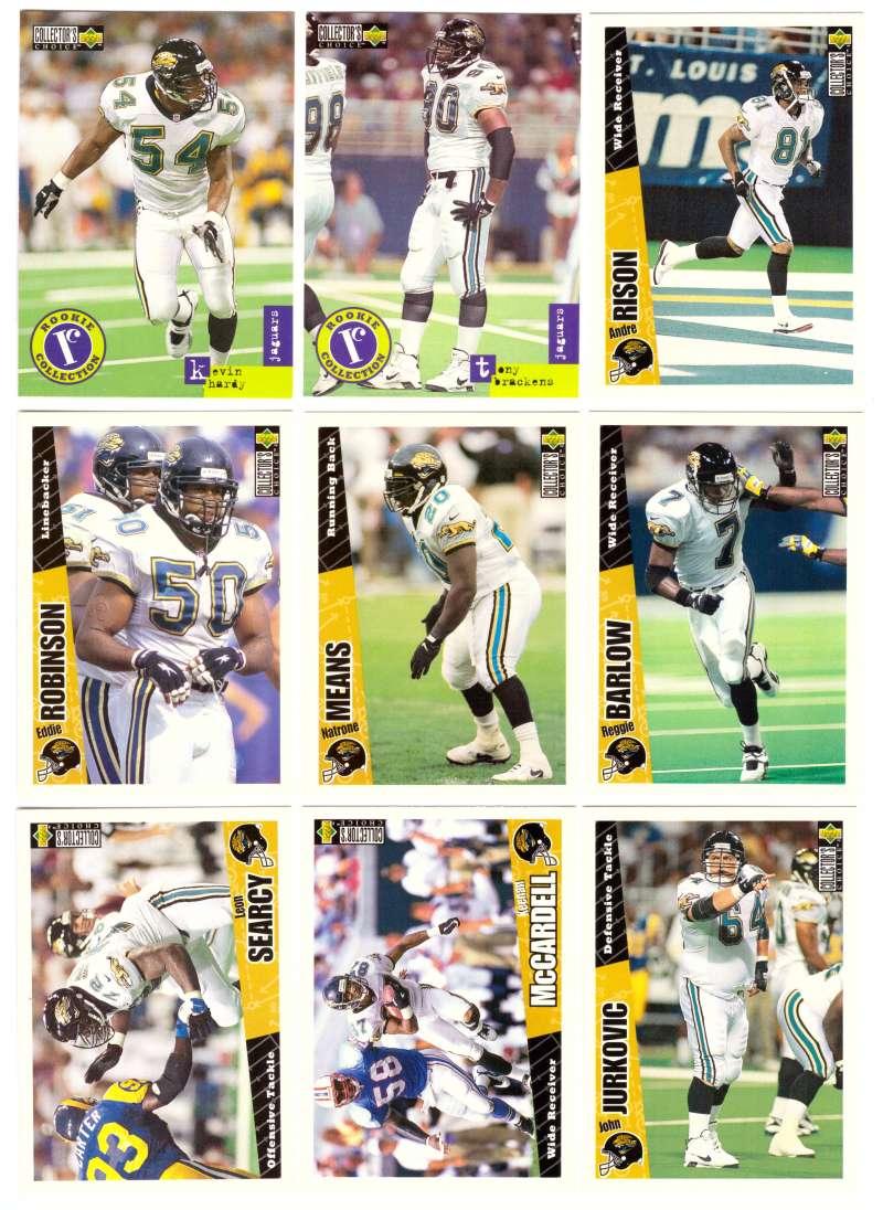 1996 Collector's Choice Update Football - JACKSONVILLE JAGUARS