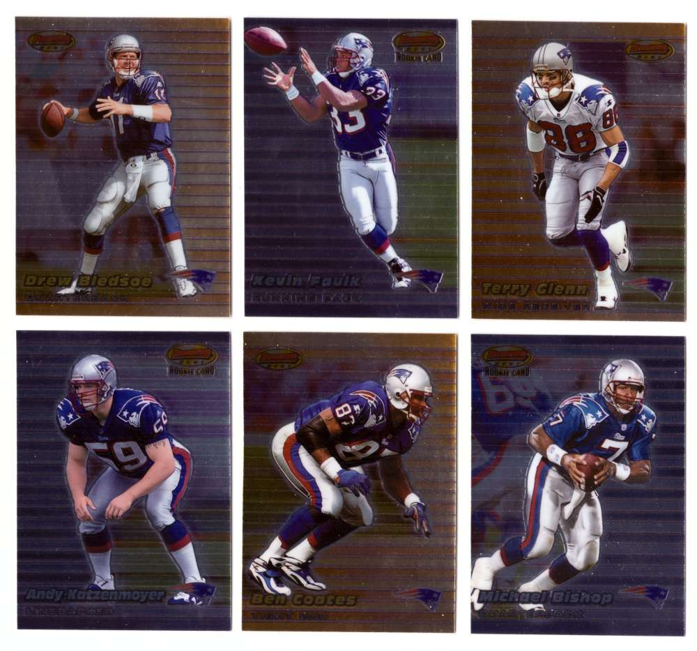 1999 Bowman's Best Football - NEW ENGLAND PATRIOTS