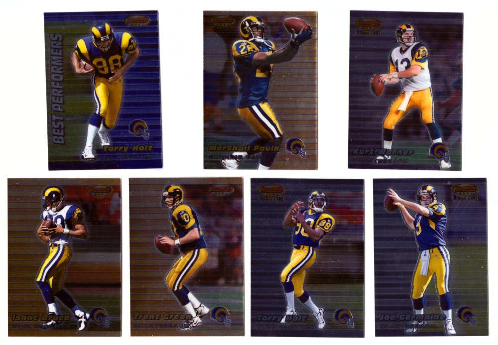 1999 Bowman's Best Football - ST. LOUIS RAMS