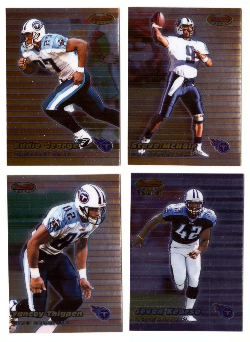 1999 Bowman's Best Football - TENNESSEE TITANS