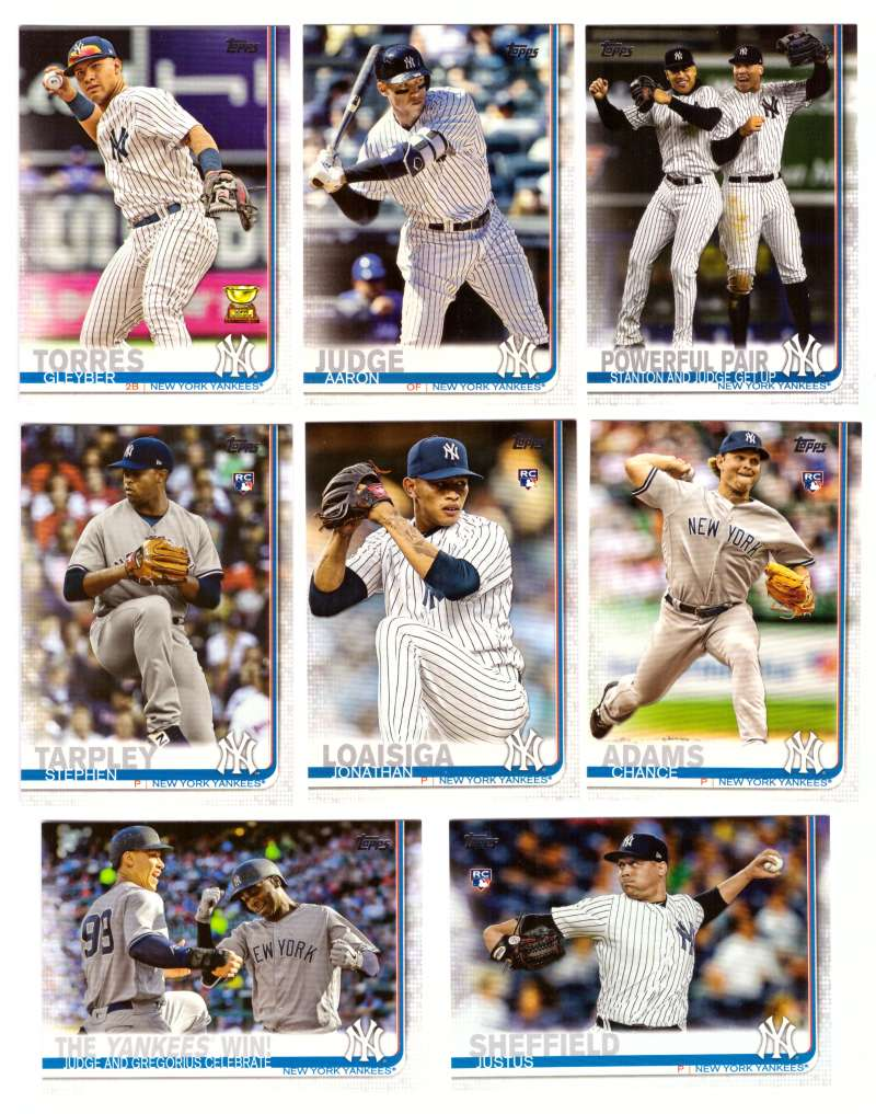 2019 Topps - NEW YORK YANKEES Team Set