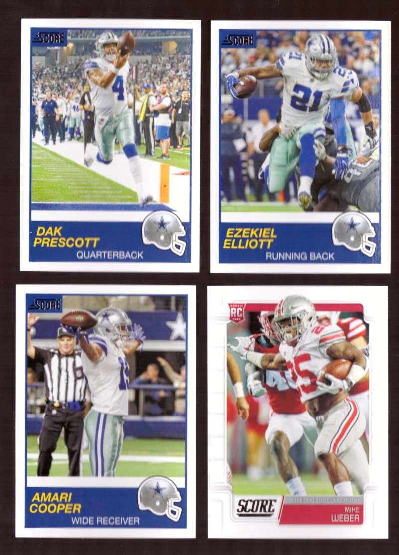 2019 Score Football Team Set - Dallas Cowboys