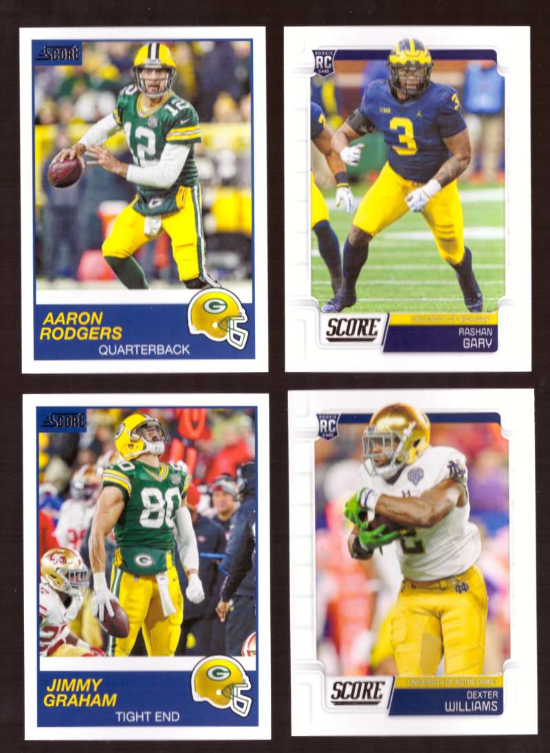 2019 Score Football Team Set - Green Bay Packers