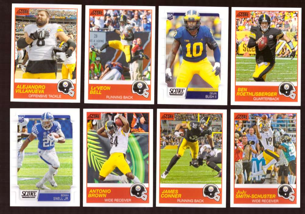 2019 Score Football Team Set - Pittsburgh Steelers