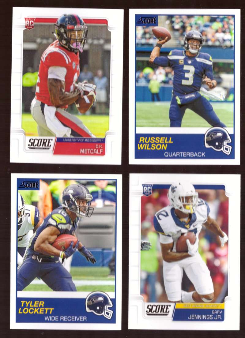2019 Score Football Team Set - Seattle Seahawks w/ DK Metcalf