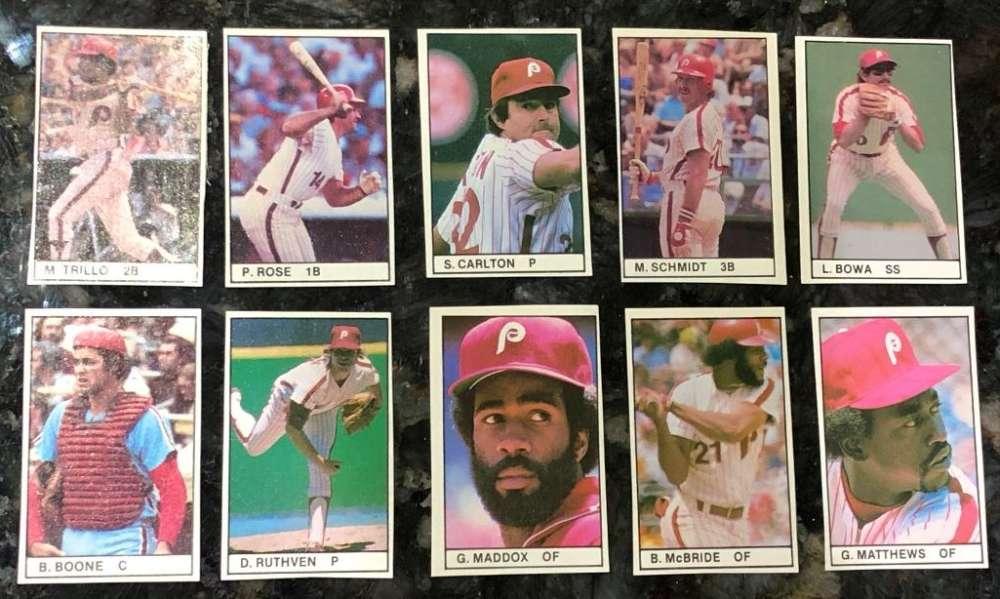 1981 All-Star Game Program Inserts PHILADELPHIA PHILLIES Team Set