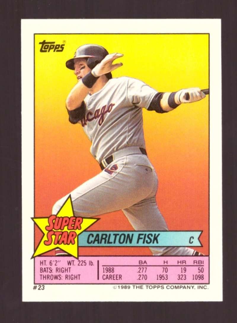 1989 Topps Sticker Backs - CHICAGO WHITE SOX Team Set