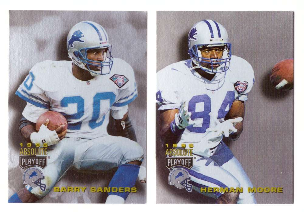1995 Absolute (Playoff) Football Team Set - DETROIT LIONS